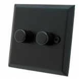 Spectrum Matt Black Dimmer Switches